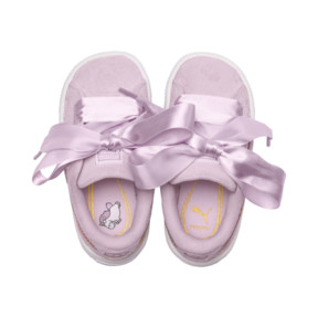 Thumbnail 6 of PUMA x MINIONS Suede Heart Fluffy Girls' Sneakers, Winsome Orchid, medium
