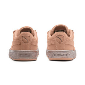 Thumbnail 4 of Suede Classic X-Chain Preschool Sneakers, Dusty Coral-Rose Gold, medium