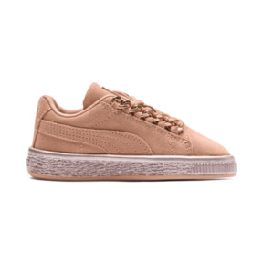Thumbnail 5 of Suede Classic X-Chain Preschool Sneakers, Dusty Coral-Rose Gold, medium