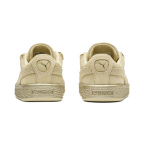 Thumbnail 4 of Suede Classic X-Chain Infant Sneakers, Reed Yellow-Metallic Gold, medium