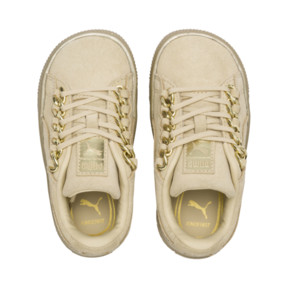 Thumbnail 6 of Suede Classic X-Chain Infant Sneakers, Reed Yellow-Metallic Gold, medium