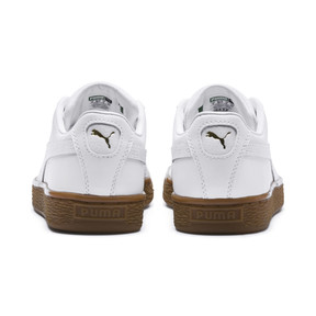 Thumbnail 4 of Basket Classic Gum  Kids' Trainers, Puma White-Metallic Gold, medium