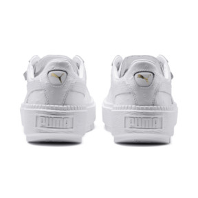 Thumbnail 4 of Platform Trace Ostrich Women's Trainers, Puma White-Puma White, medium