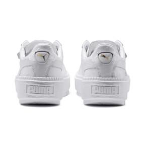 Thumbnail 4 of Platform Trace Ostrich Damen Sneaker, Puma White-Puma White, medium