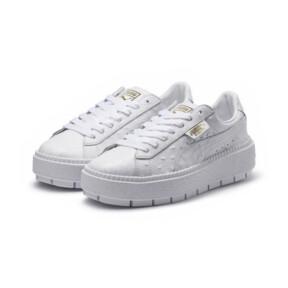 Thumbnail 2 of Platform Trace Ostrich Damen Sneaker, Puma White-Puma White, medium