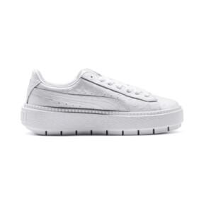Thumbnail 5 of Platform Trace Ostrich Damen Sneaker, Puma White-Puma White, medium