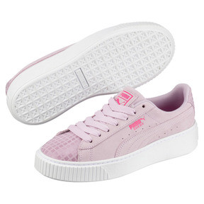 Thumbnail 2 of Suede Platform Street 2 Women's Sneakers, Winsome Orchid, medium