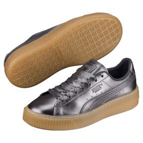 Thumbnail 2 of Basket Platform Luxe Women's Sneakers, QUIET SHADE-QUIET SHADE, medium
