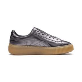 Thumbnail 5 of Basket Platform Luxe Women's Sneakers, QUIET SHADE-QUIET SHADE, medium