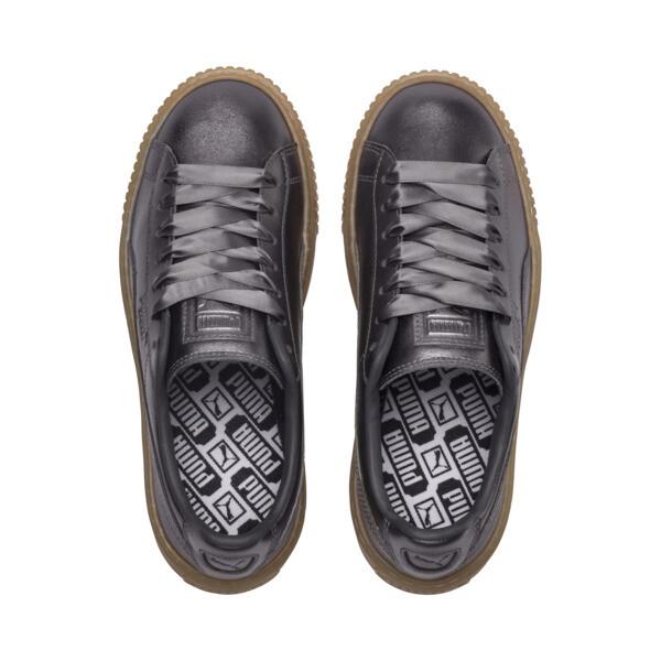 Basket Platform Luxe Women's Sneakers, QUIET SHADE-QUIET SHADE, large