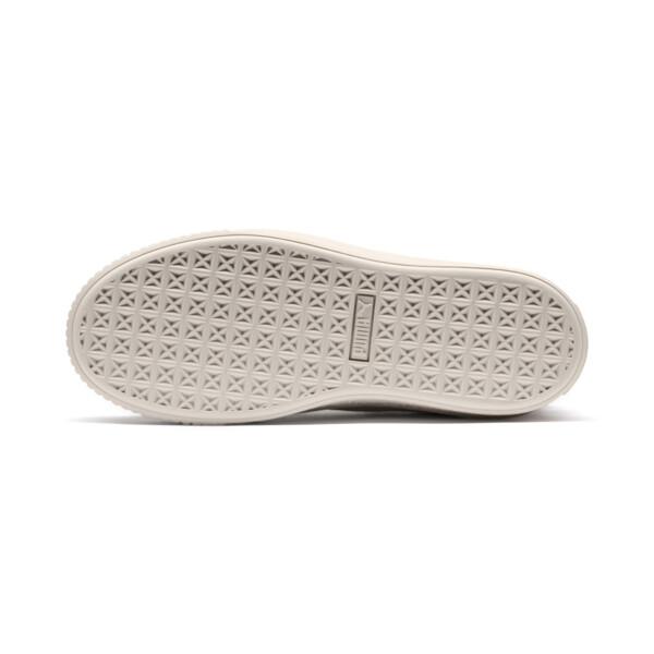Basket Suede Platform Bling pour femme, Whisper White-Whisper White, large