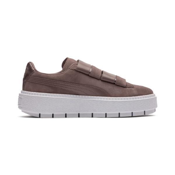 Platform Trace Strap Esc Women's Sneakers, Peppercorn-Peppercorn, large