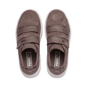 Thumbnail 6 of Platform Trace Strap Esc Women's Sneakers, Peppercorn-Peppercorn, medium