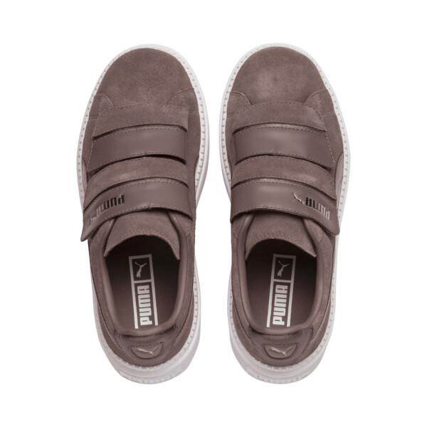 Platform Trace Strap Esc Women's Sneakers, 01, large