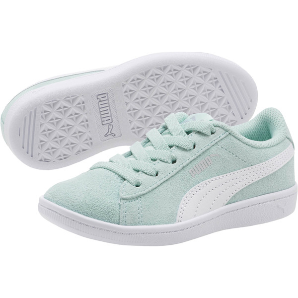 PUMA Vikky AC Little Kids' Shoes, Fair Aqua-Puma White, large