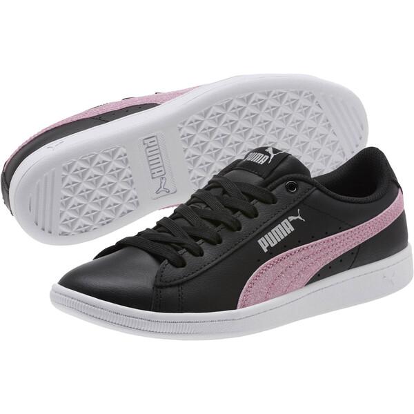 Puma Vikky Glitz FS Sneakers JR, Black-Orchid-Silver, large