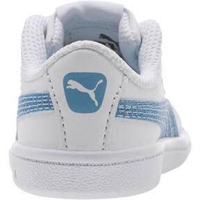 Thumbnail 4 of Puma Vikky Glitz FS AC Infant Sneakers, Puma White-CERULEAN-Silver, medium
