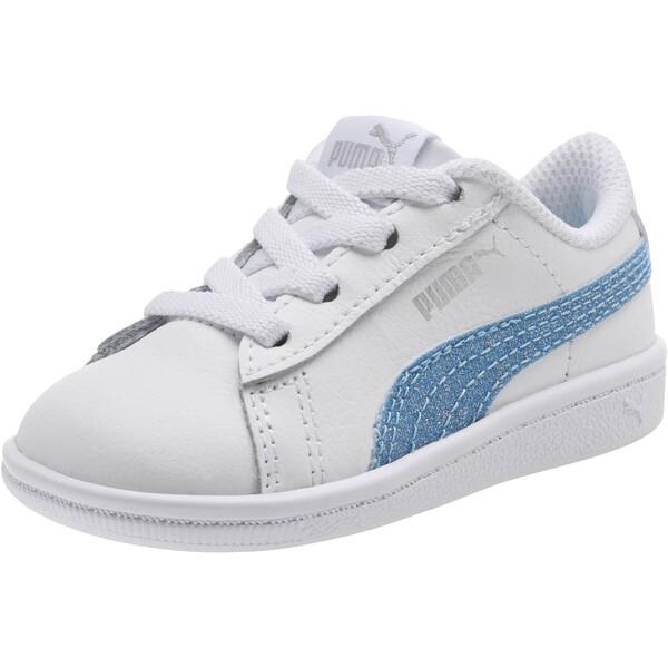 Puma Vikky Glitz FS AC Infant Sneakers, Puma White-CERULEAN-Silver, large