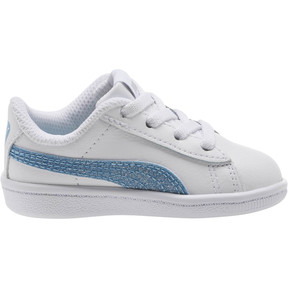 Thumbnail 3 of Puma Vikky Glitz FS AC Infant Sneakers, Puma White-CERULEAN-Silver, medium
