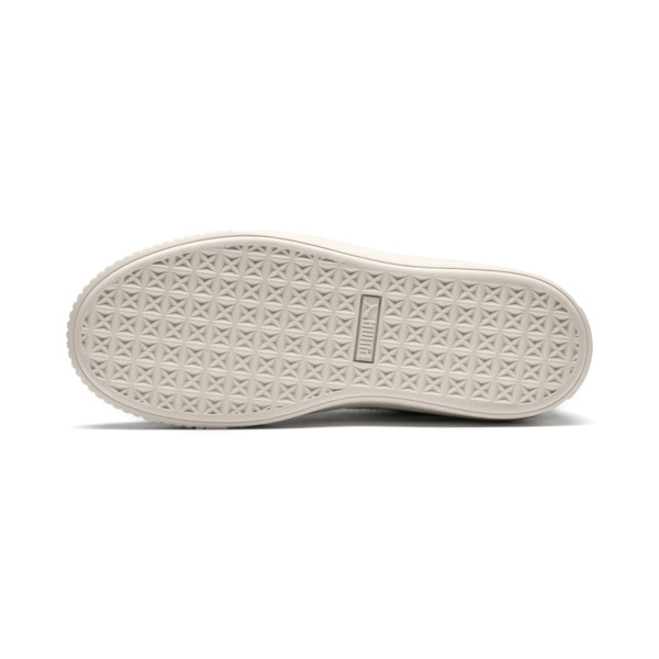 Basket Platform Scallop Women's Trainers, Laurel Wreath-Whisper White, large