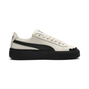 Thumbnail 5 of Basket Platform Scallop Damen Sneaker, Whisper White-Puma Black, medium