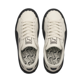 Thumbnail 6 of Basket Platform Scallop Damen Sneaker, Whisper White-Puma Black, medium