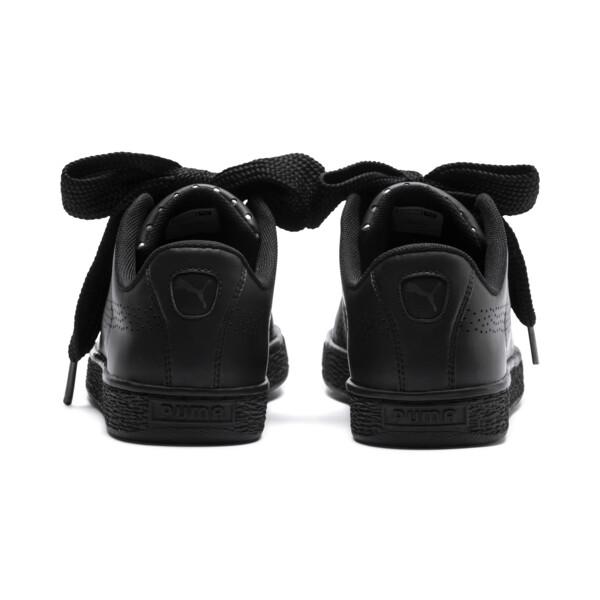 Basket Heart Lux Women's Sneakers, Puma Black-Puma Black, large