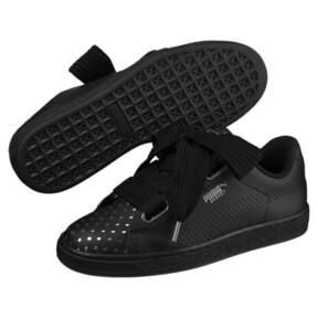 Thumbnail 2 of Basket Heart Lux Women's Sneakers, Puma Black-Puma Black, medium