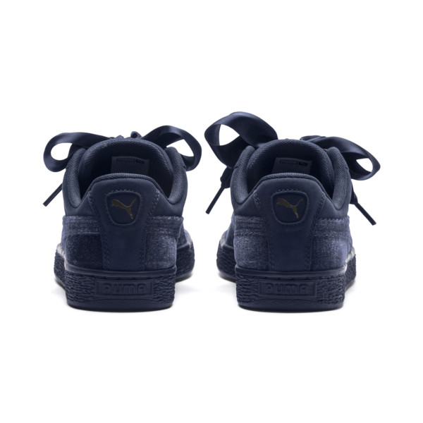 Basket Heart Lunar Glow Women's Sneakers, Peacoat-Peacoat, large