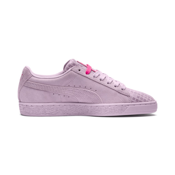Suede Classic Street 2 Women's Sneakers, Wins Orchid-Puma Aged Silver, large