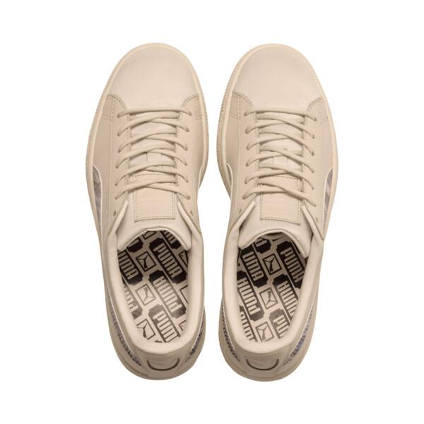 Basket Classic Mimicry Women's Sneakers, Vanilla Cream-Vanilla Cream, large