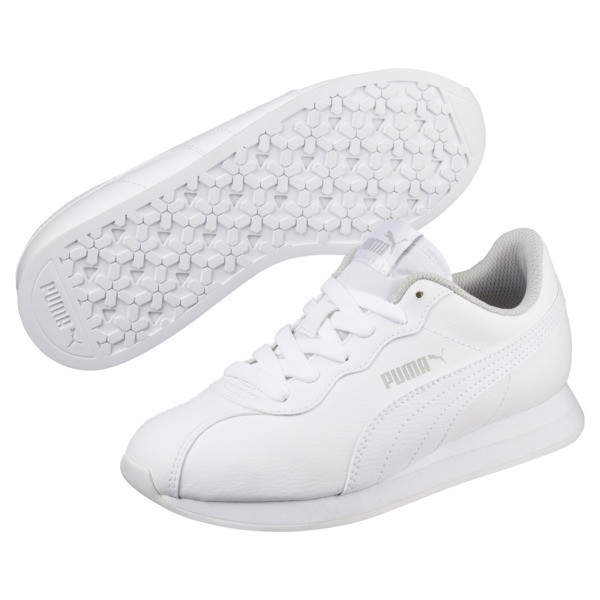 Turin II Sneakers JR, Puma White-Puma White, large