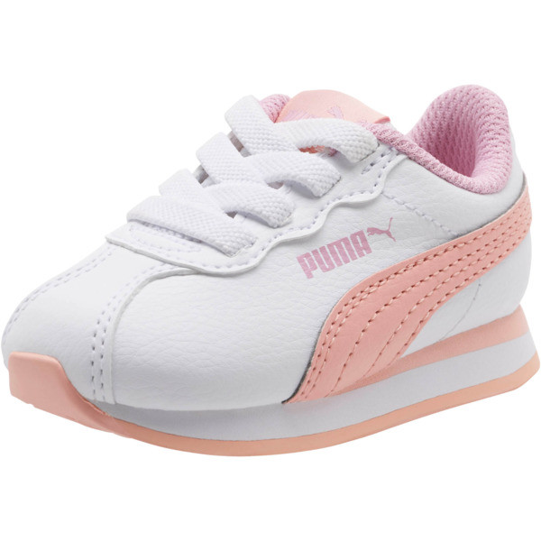 Turin II AC Sneakers INF, P.White-Peach Bud-Pale Pink, large