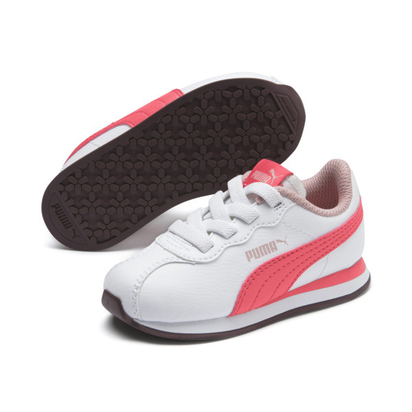 Turin II AC Toddler Shoes, Puma White-Calypso Coral, large
