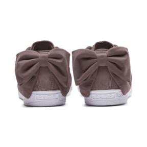 Thumbnail 4 of Suede Bow Women's Sneakers, Peppercorn-Peppercorn, medium