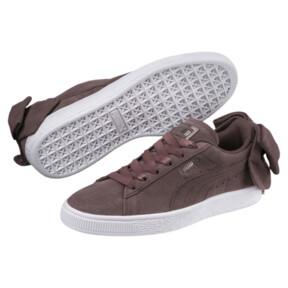 Thumbnail 2 of Suede Bow Women's Sneakers, Peppercorn-Peppercorn, medium