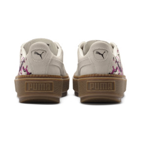 Thumbnail 4 of Suede Platform Digital Embroidery Women's Sneakers, Whisper White-Whisper White, medium