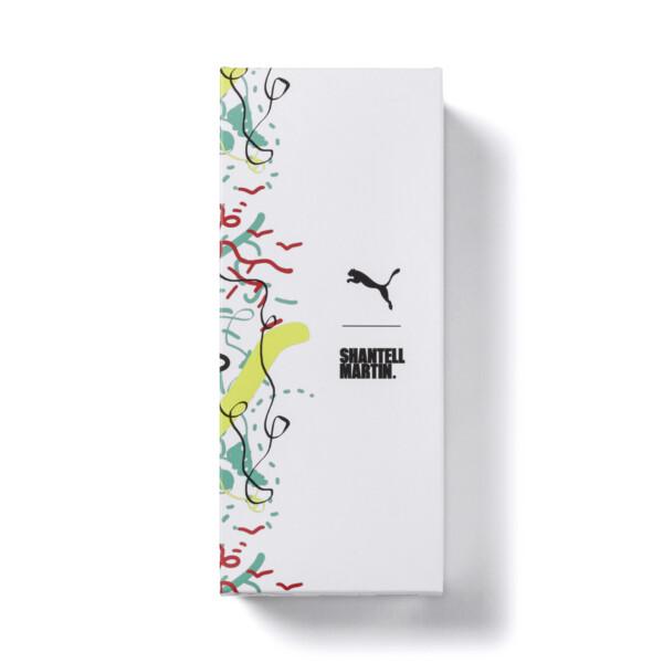 PUMA x SHANTELL MARTIN Leadcat Graphic Sandals, Puma Black-White-Dragonfly, large