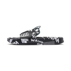 Thumbnail 1 of PUMA x SHANTELL MARTIN Leadcat Graphic Sandals, Puma Black-White-Dragonfly, medium