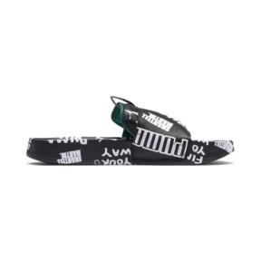 Thumbnail 5 of PUMA x SHANTELL MARTIN Leadcat Graphic Sandals, Puma Black-White-Dragonfly, medium