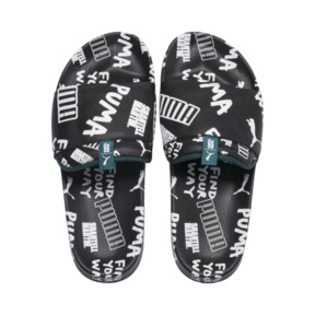 Thumbnail 7 of PUMA x SHANTELL MARTIN Leadcat Graphic Sandals, Puma Black-White-Dragonfly, medium