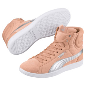 Thumbnail 2 of Puma Vikky Mid Cord Women's Sneakers, Dusty Coral-Puma Silver, medium