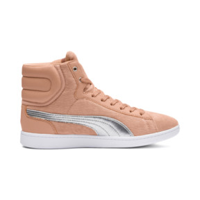 Thumbnail 5 of Puma Vikky Mid Cord Women's Sneakers, Dusty Coral-Puma Silver, medium