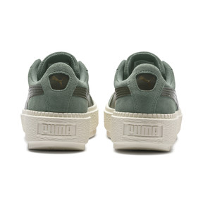 Thumbnail 4 of Suede Platform Trace Girls' Trainers, Laurel Wreath-Forest Night, medium
