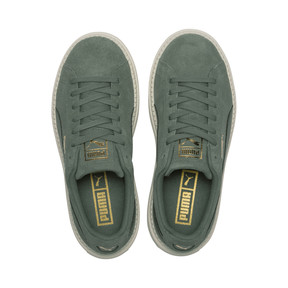 Thumbnail 6 of Suede Platform Trace Girls' Trainers, Laurel Wreath-Forest Night, medium