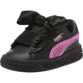 Thumbnail 1 of Basket Heart Bling Infant Sneakers, Puma Black-Orchid, medium