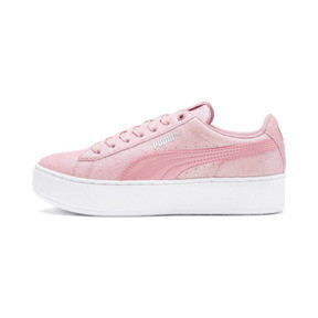 Thumbnail 1 of PUMA Vikky Platform Glitz Sneakers JR, Bridal Rose-Bridal Rose, medium
