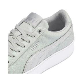 Thumbnail 7 of PUMA Vikky Platform Glitz Sneakers JR, Gray Violet-Gray Violet, medium
