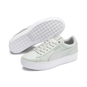 Thumbnail 2 of PUMA Vikky Platform Glitz Sneakers JR, Gray Violet-Gray Violet, medium