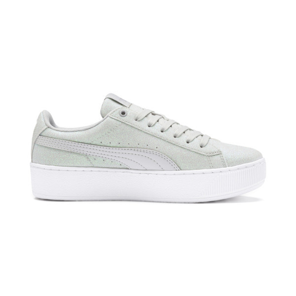 PUMA Vikky Platform Glitz Sneakers JR, Gray Violet-Gray Violet, large
